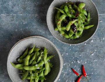 chilli and salted edamame