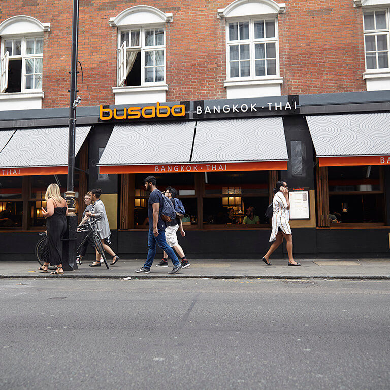 busaba soho exterior during the day