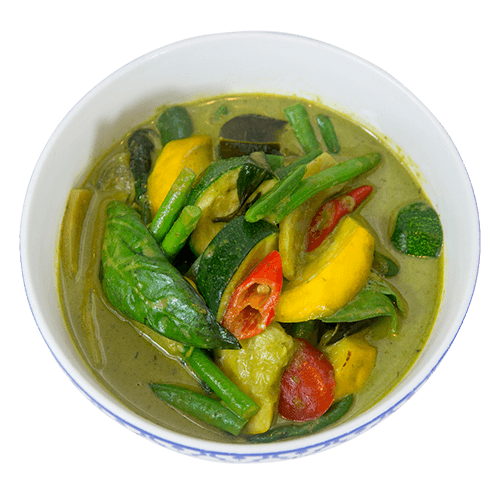 vegan vegetable green thai curry