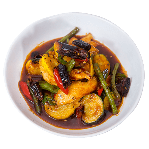 phad chicken courgette