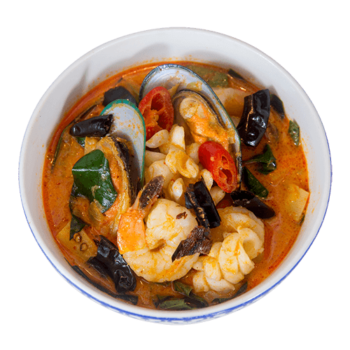 red seafood thai curry