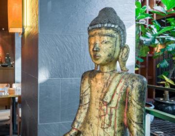 Golden buddha in Busaba